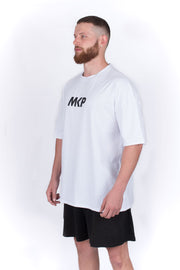 MKP Oversized Tee - Black on White | Major Key Physiques | Australia Workout Wear