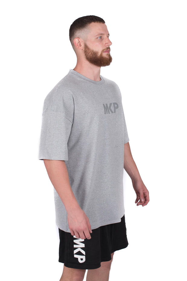 MKP Oversized Tee - Grey on Grey | Major Key Physiques | Australia Workout Wear