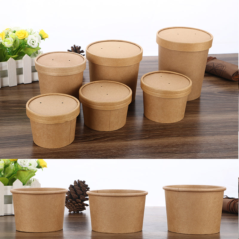 Paper soup bowls cardboard lunch box packing containers restaurant food containers cardboard food boxes