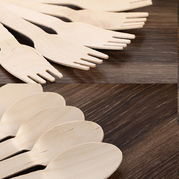 Disposable Wooden Forks Disposable Wooden Spoons