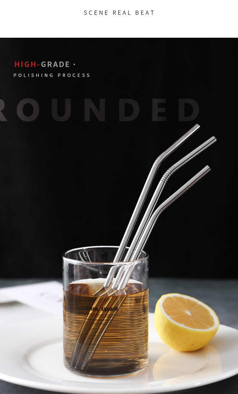 304 Stainless Steel Straws with drink