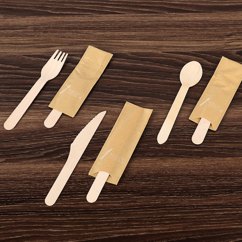 Wooden Knives Wooden Spoons Wooden Forks Disposable Wooden Cutlery