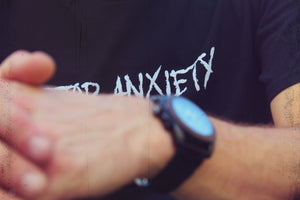 Stop Anxiety (white on black)