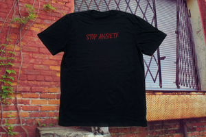 Stop Anxiety (red on black)