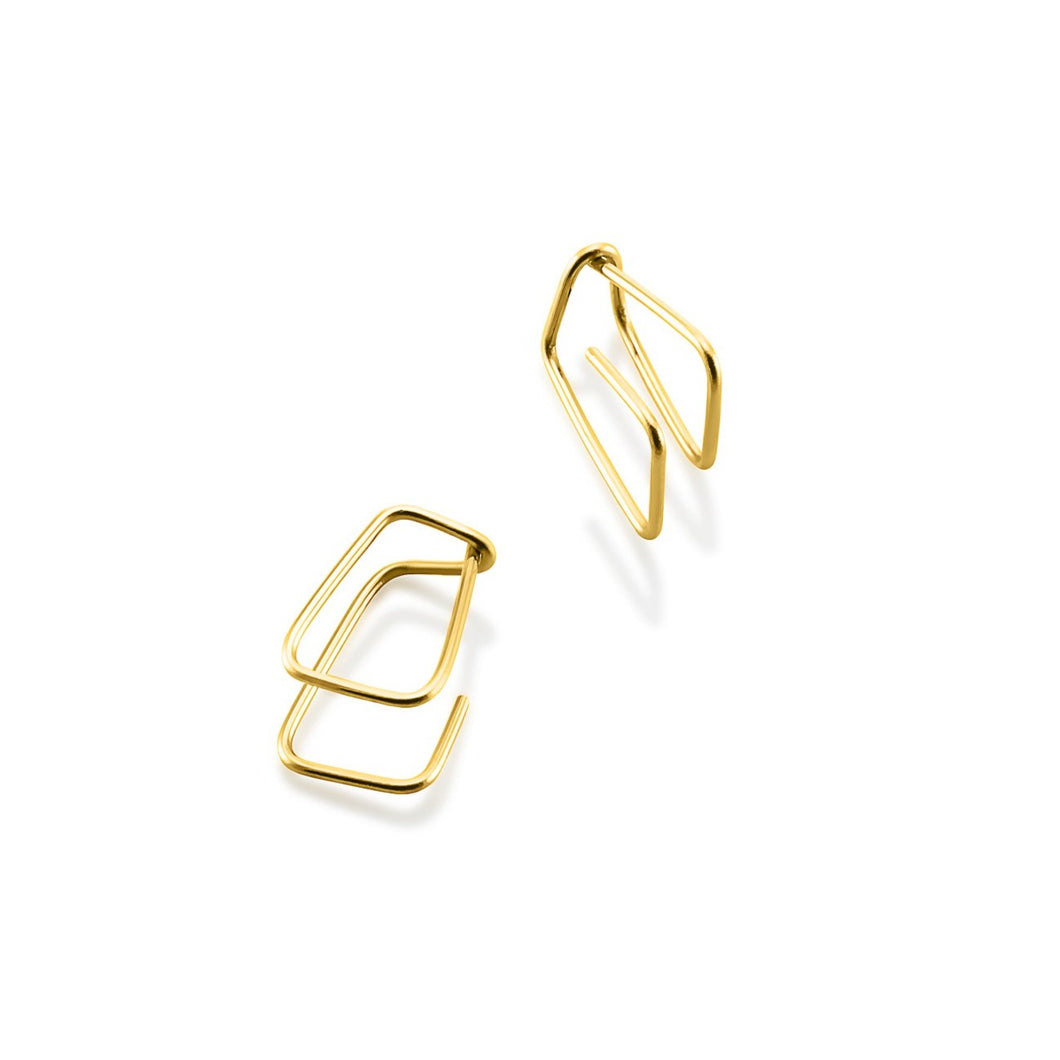 Rectangles short 18 carat gold