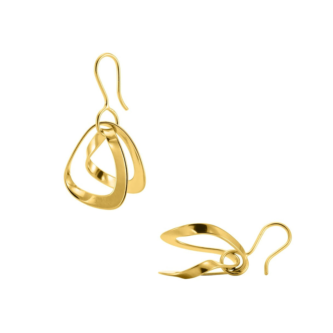Loop earhangers gold plated silver