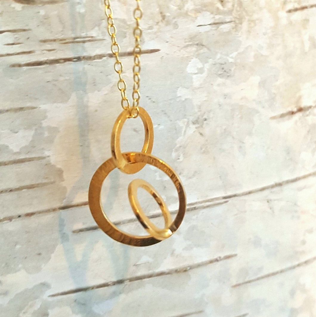 Galaxy necklace small in goldplated silver