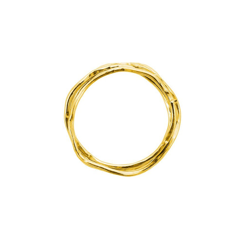 Twistet 18 carat gold ring