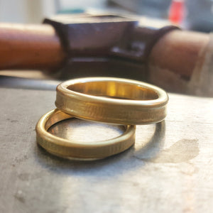 Wedding bands. The beauty of imperfection.