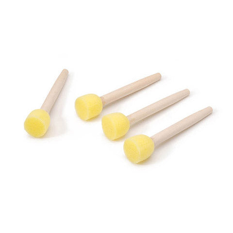 Round Foam Brushes for PYO color palette 4pc - Periwinkles Cutters LLC