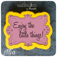 Mia Plaque Cookie Cutter - Periwinkles Cutters LLC