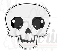 Skull Cookie Cutter - Periwinkles Cutters LLC