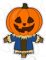 Boy Pumpkin Scarecrow Cookie Cutter - Periwinkles Cutters LLC