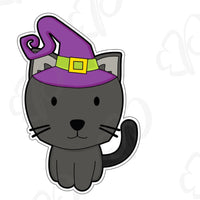 Witch Cat Cookie Cutter - Periwinkles Cutters LLC