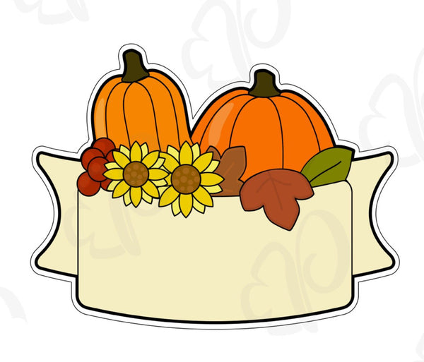 Pumpkin Patch Banner Cookie Cutter