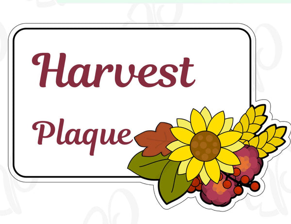 Harvest Plaque Cookie Cutter - Periwinkles Cutters LLC