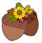 Floral Acorn Cookie Cutter