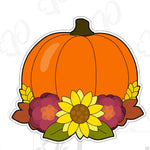 Floral Pumpkin A Cookie Cutter - Floral Apple Cookie Cutter - Periwinkles Cutters LLC