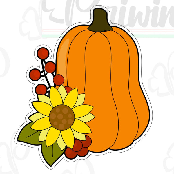 Floral Pumpkin C Cookie Cutter