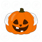 Cool Bald Pumpkin Cookie Cutter