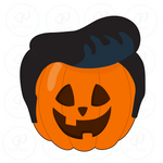 Cool Pompadour Hair Pumpkin Cookie Cutter
