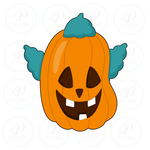 Cool Clown Hair Pumpkin Cookie Cutter