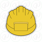 Construction Helmet Cookie Cutter - Periwinkles Cutters LLC
