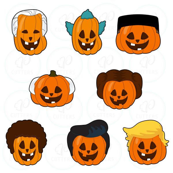 Cool Hi-Top Hair Pumpkin Cookie Cutter - Periwinkles Cookie Cutters