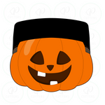 Cool Hi-Top Hair Pumpkin Cookie Cutter