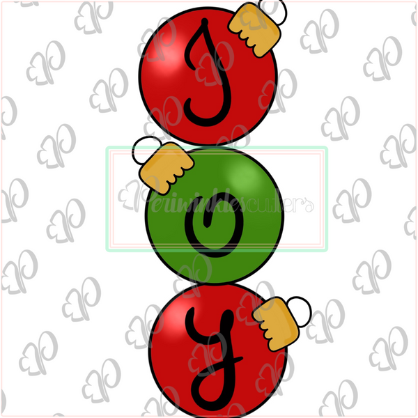 Stack of Christmas Ornament - Periwinkles Cutters LLC