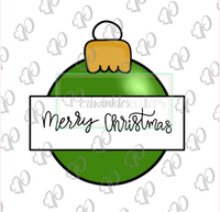 Christmas Bulb Ornament Banner Cookie Cutter - Periwinkles Cutters LLC