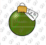 Christmas Round Ornament with Tag Cookie Cutter - Periwinkles Cutters LLC