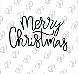 Merry Christmas Lettering Plaque Cookie Cutter - Periwinkles Cutters LLC