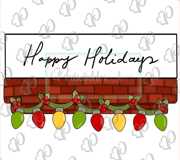Chimney Christmas Lights Garland Banner Cookie Cutter - Periwinkles Cutters LLC