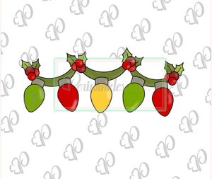 Christmas Light Bulbs Garland Cookie Cutter - Narrow - Periwinkles Cutters LLC