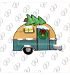 Christmas Camper with Tree Cookie Cutter