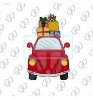 Vintage Car with Presents on Top - Periwinkles Cutters LLC