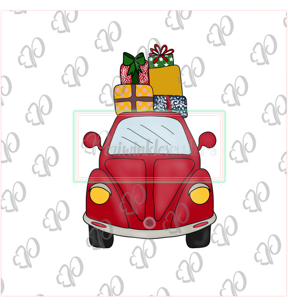 Vintage Car with Presents on Top