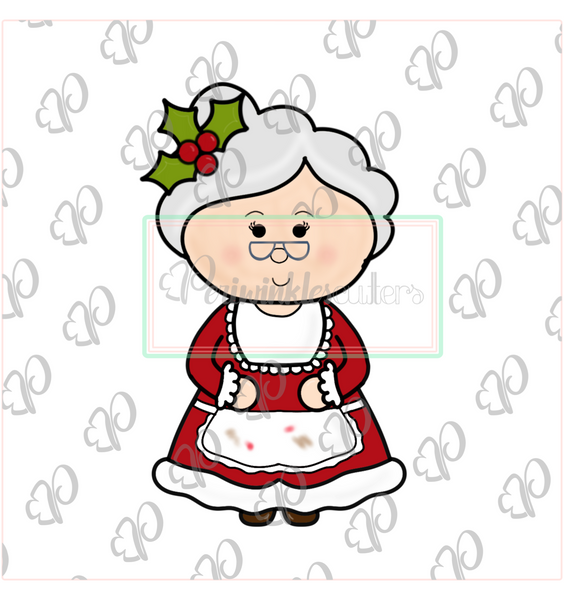 Mrs. Claus Full Body Cookie Cutter - Christmas Cookie Cutter - Periwinkles Cutters LLC