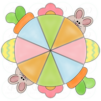 Easter Party Platter - 4 Pieces Cookie Cutter - Periwinkles Cutters LLC