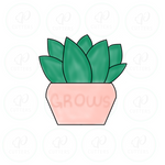 Grow Succulent Pot Cookie Cutter - Periwinkles Cutters LLC