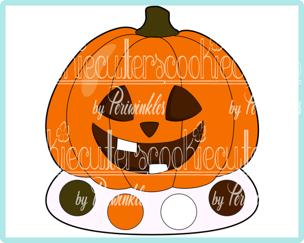 PYO Pumpkin Cookie Cutter - Periwinkles Cutters LLC