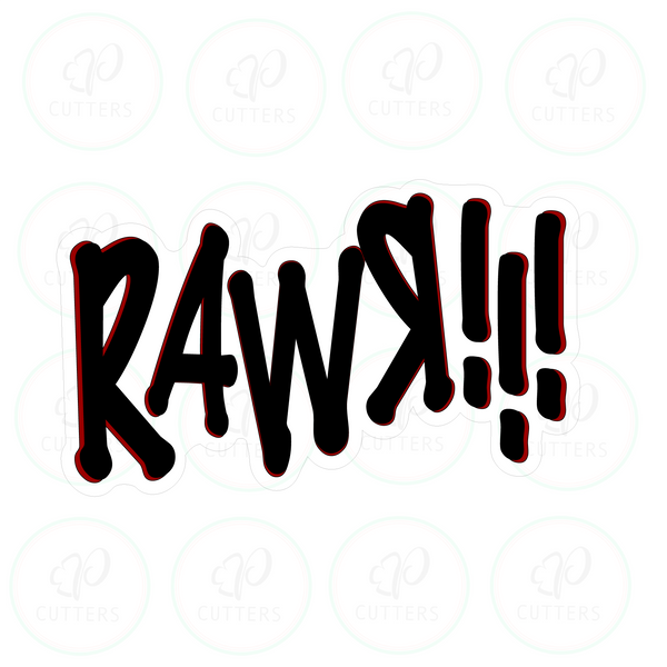 Rawr!!! Lettering Cookie Cutter