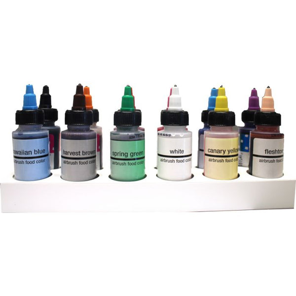 Variety Pack 2 oz Airbrush Color Set of 12 by Chefmaster - Periwinkles Cutters LLC