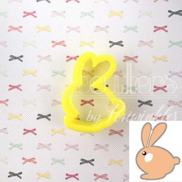 Hopping Bunny Cookie Cutter - Periwinkles Cutters LLC