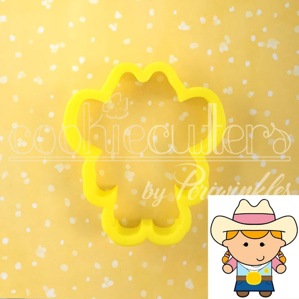 Cowgirl Cookie Cutter - Periwinkles Cutters LLC