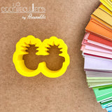 Pineapple Sunglasses Cookie Cutter - Periwinkles Cutters LLC
