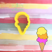Ice Cream Cookie Cutter - Periwinkles Cutters LLC