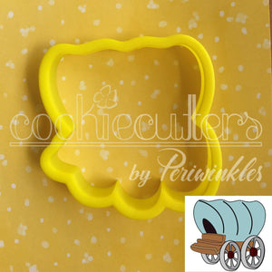 Cowboy Wagon Cookie Cutter - Periwinkles Cutters LLC