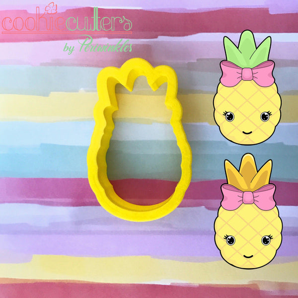 Cute Pineapple Cookie Cutter - Periwinkles Cutters LLC